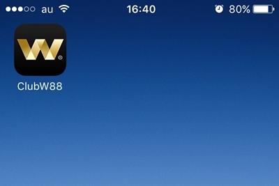 w88カジノのアプリダウンロード完了