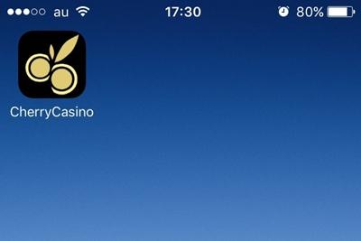 ホーム画面にチェリーカジノのアイコンが追加されました